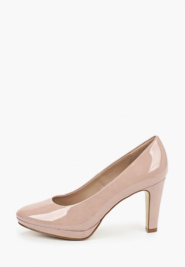женские туфли с закрытым носом graceland by deichmann, розовые