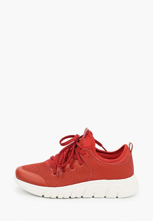 женские низкие кроссовки venice by deichmann, красные