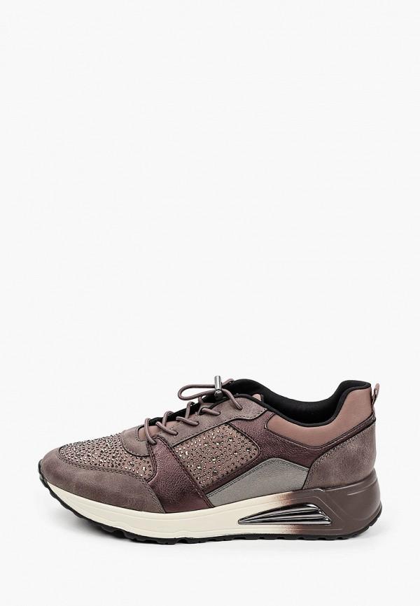 женские низкие кроссовки venice by deichmann, коричневые