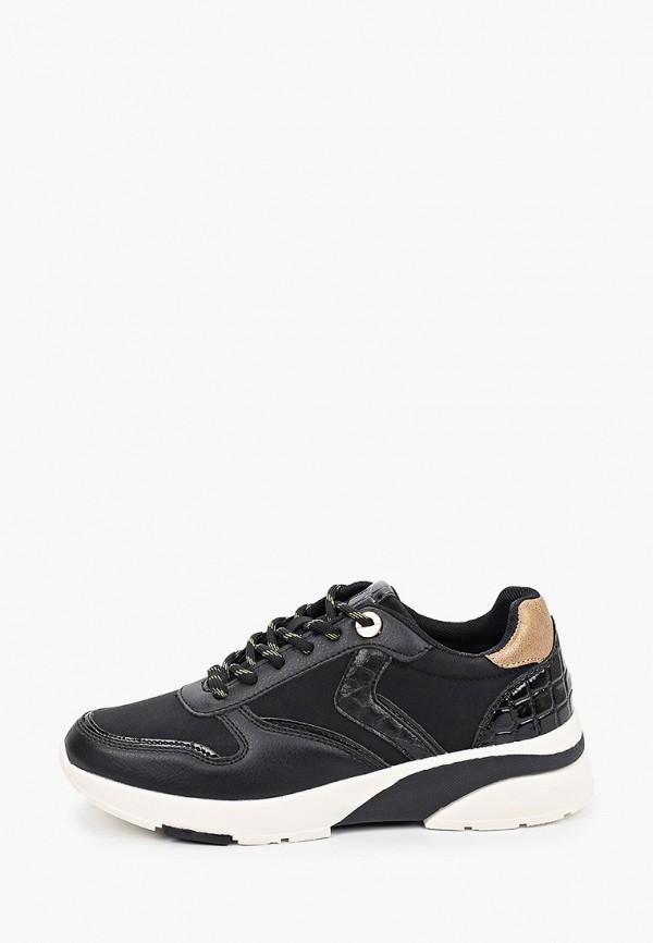 женские низкие кроссовки venice by deichmann, черные