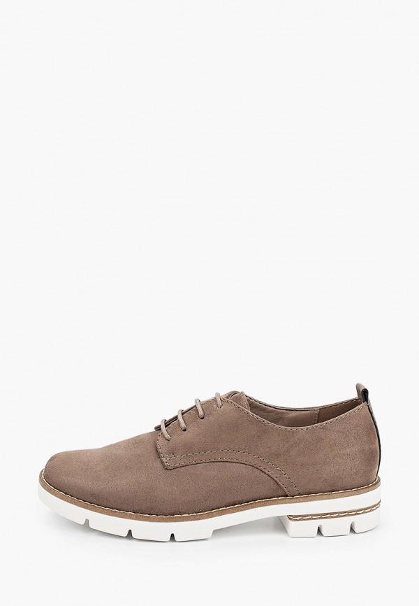 женские ботинки-оксфорды graceland by deichmann, коричневые