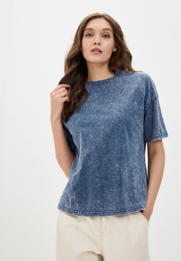 женская футболка befree, синяя