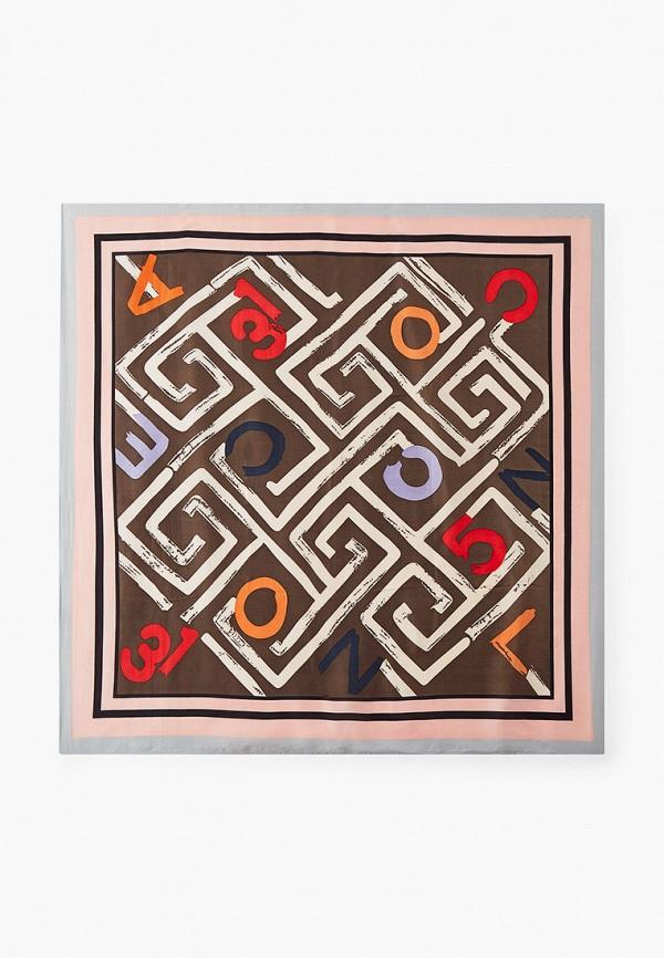 женский платок mon mua, коричневый