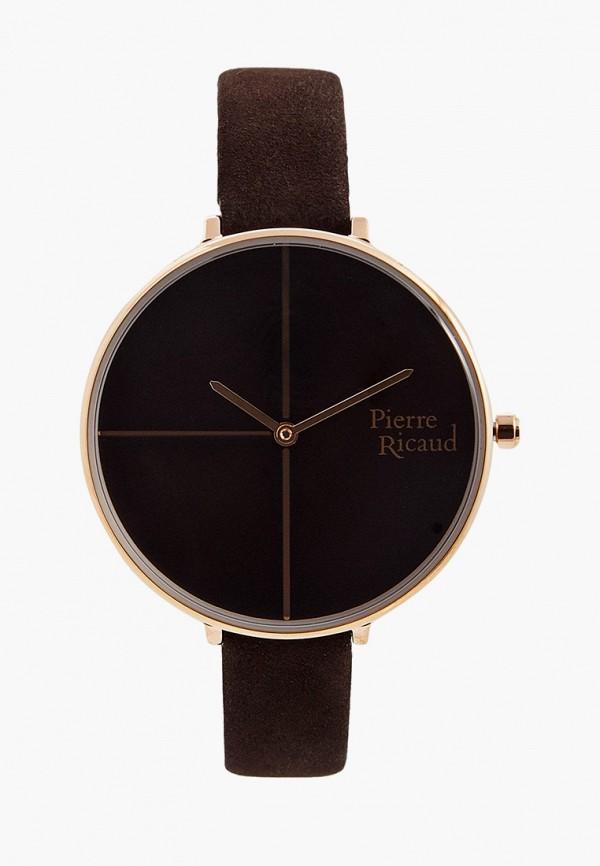 женские часы pierre ricaud, коричневые