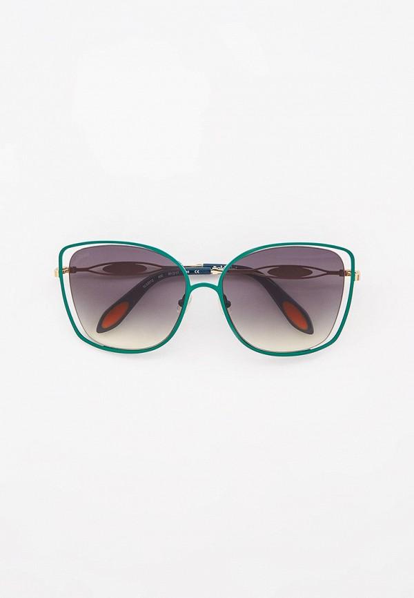 женские квадратные солнцезащитные очки baldinini, бирюзовые