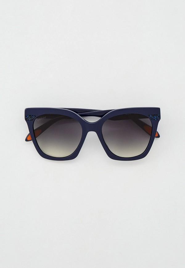 женские квадратные солнцезащитные очки baldinini, синие