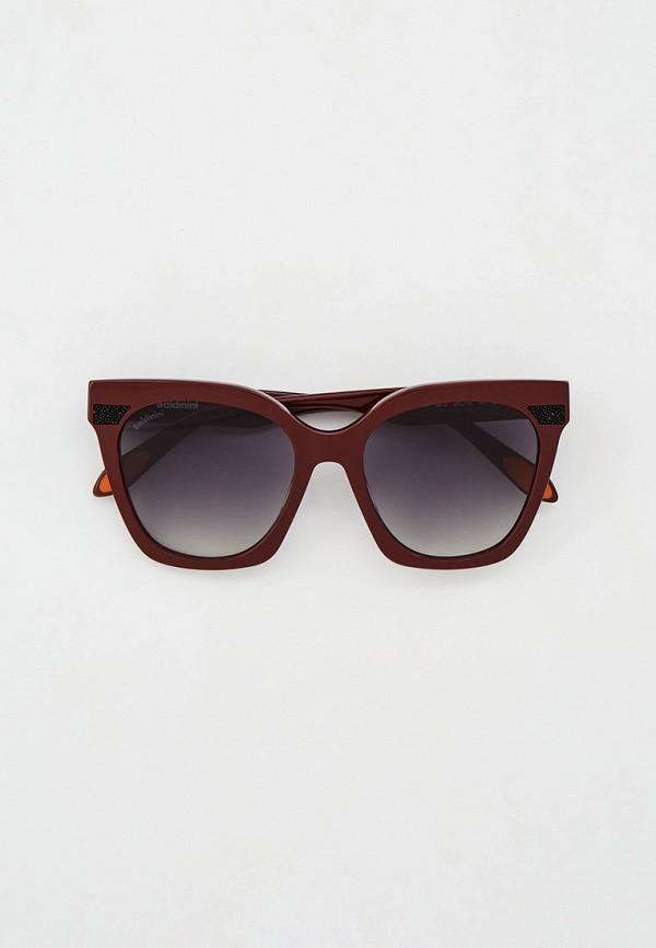 женские квадратные солнцезащитные очки baldinini, коричневые