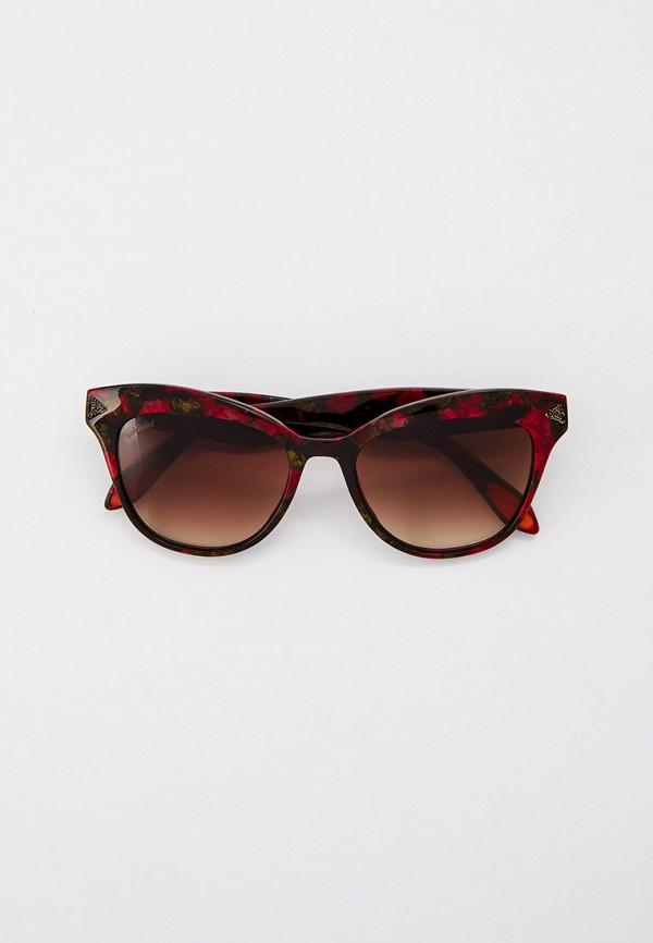 женские солнцезащитные очки кошачьи глаза baldinini, красные