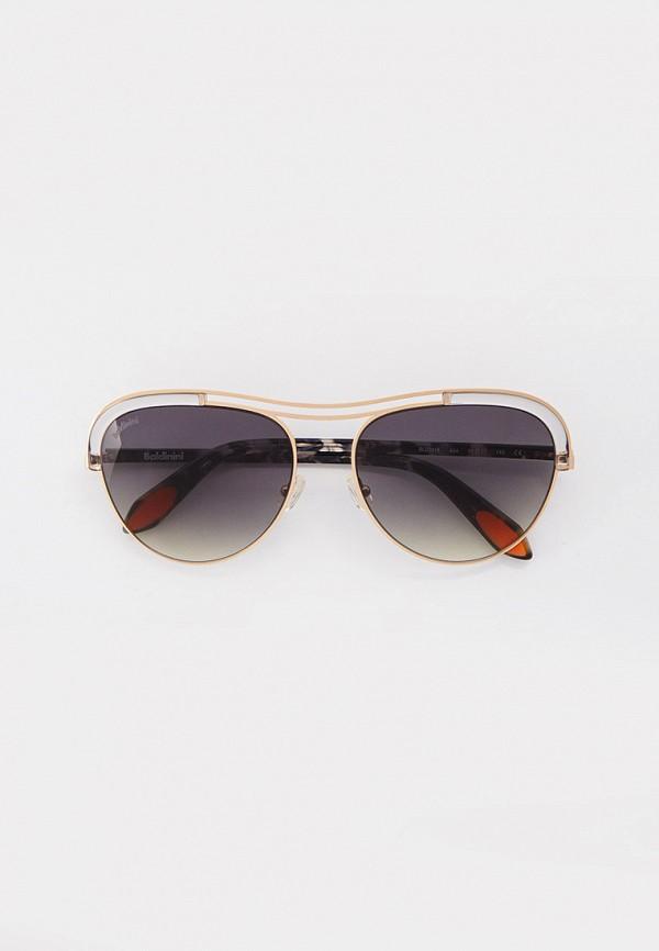 женские авиаторы солнцезащитные очки baldinini, золотые