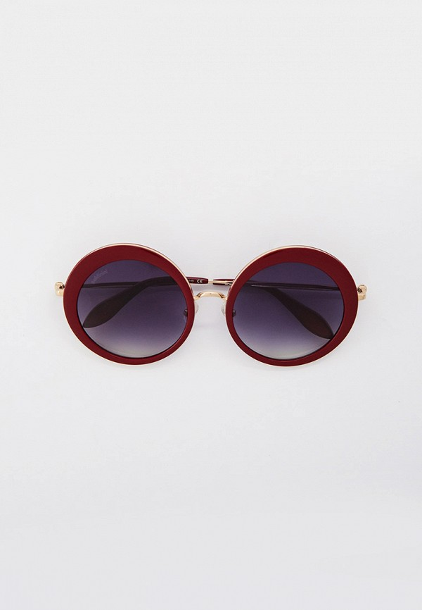 женские круглые солнцезащитные очки baldinini, бордовые