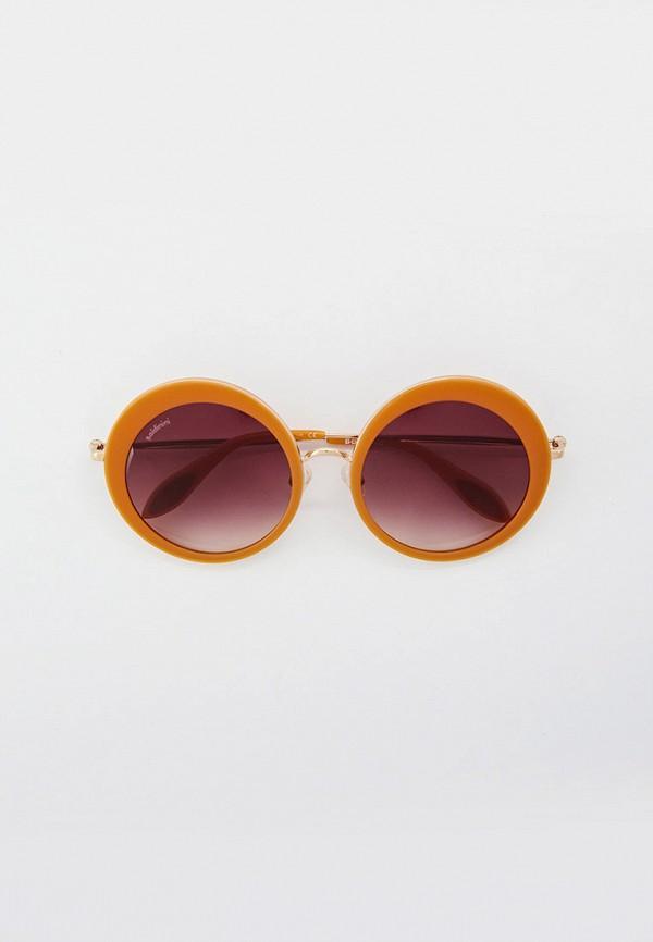 женские круглые солнцезащитные очки baldinini, бежевые