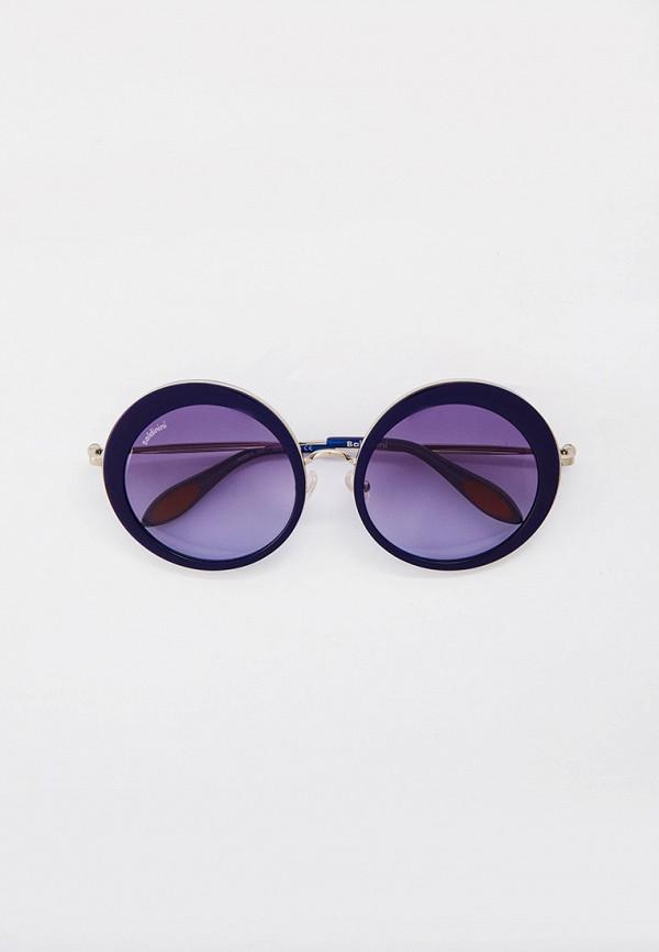 женские круглые солнцезащитные очки baldinini, синие