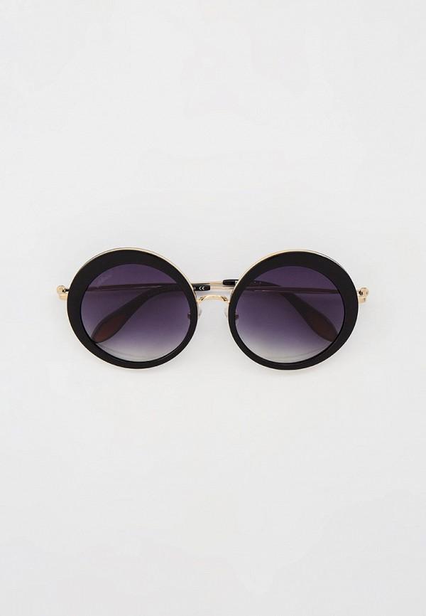женские круглые солнцезащитные очки baldinini, черные