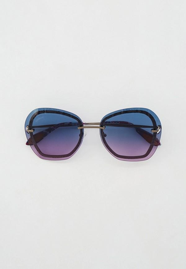 женские квадратные солнцезащитные очки baldinini, серебряные