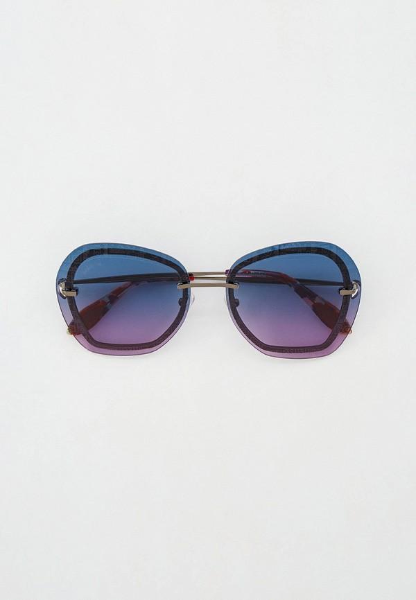 женские круглые солнцезащитные очки baldinini, серебряные