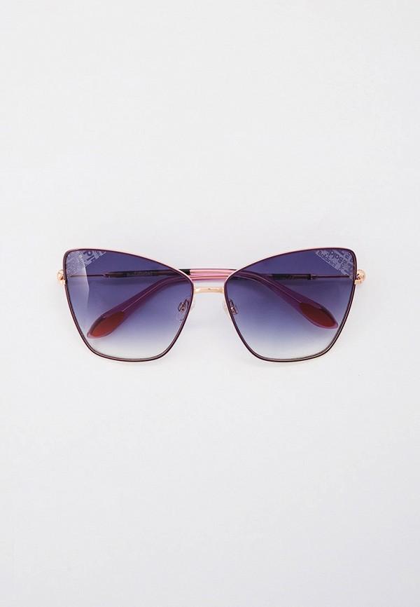 женские солнцезащитные очки кошачьи глаза baldinini, фиолетовые