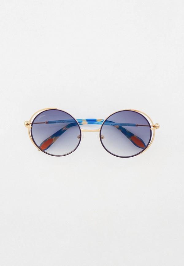 женские круглые солнцезащитные очки baldinini, золотые