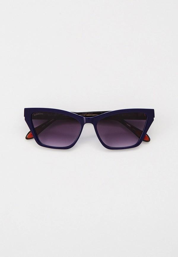 женские солнцезащитные очки кошачьи глаза baldinini, синие