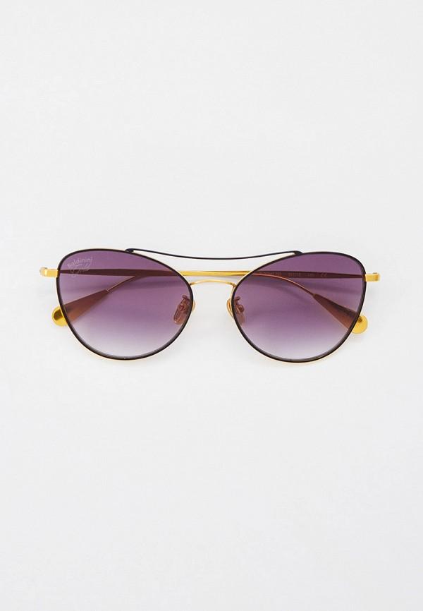 женские солнцезащитные очки кошачьи глаза baldinini, черные
