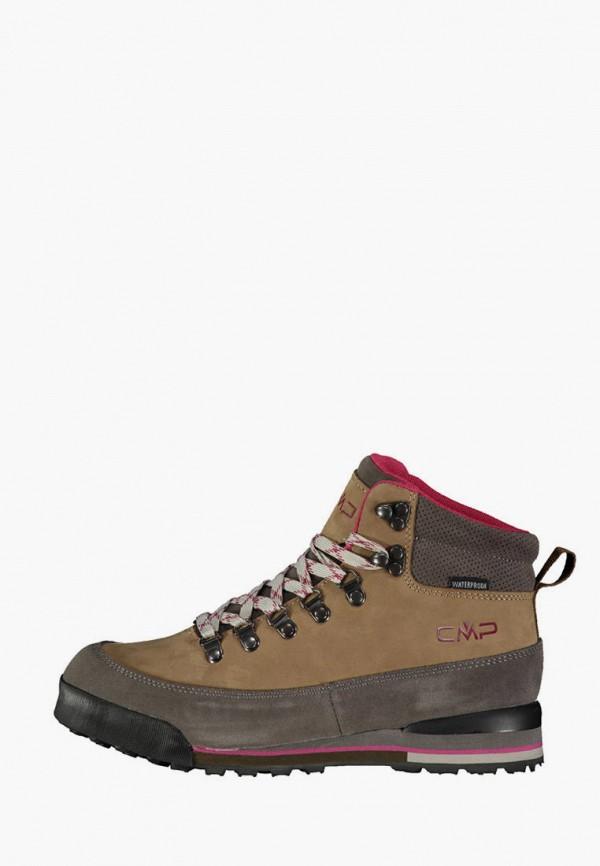 женские высокие ботинки cmp, коричневые