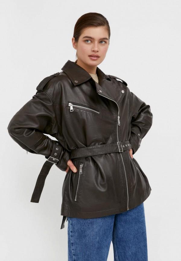 женская куртка косухи finn flare, хаки