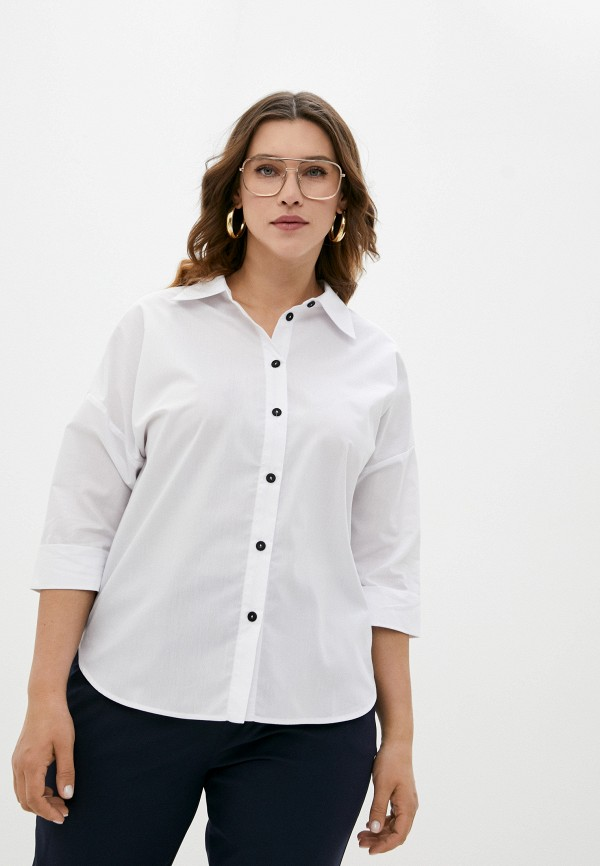 женская рубашка с длинным рукавом adele fashion, белая