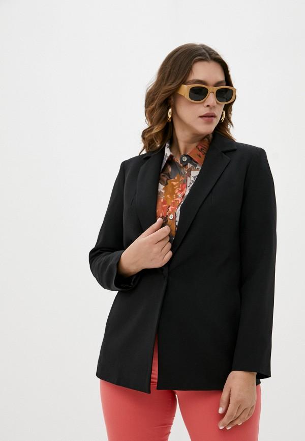 женский пиджак adele fashion, черный