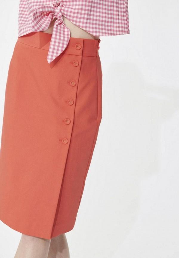 женская прямые юбка tara jarmon, оранжевая