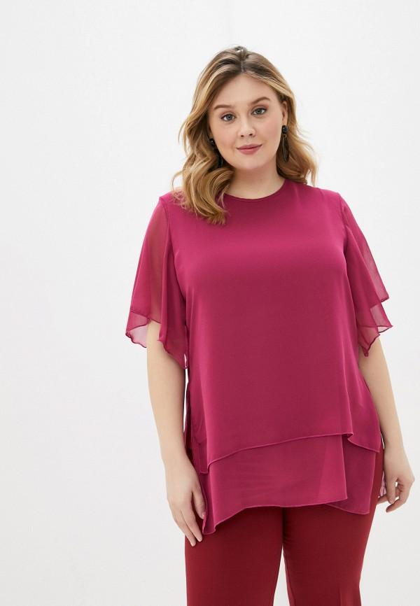 женская блузка с коротким рукавом olsi, розовая