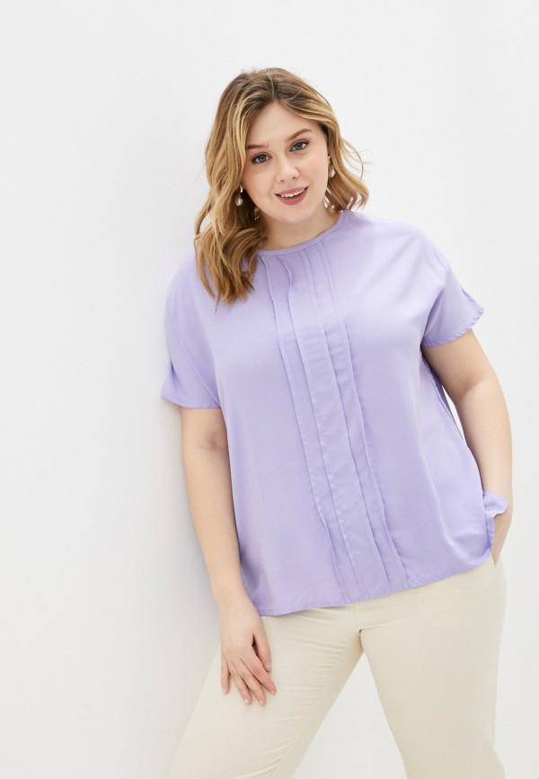 женская блузка с коротким рукавом olsi, фиолетовая
