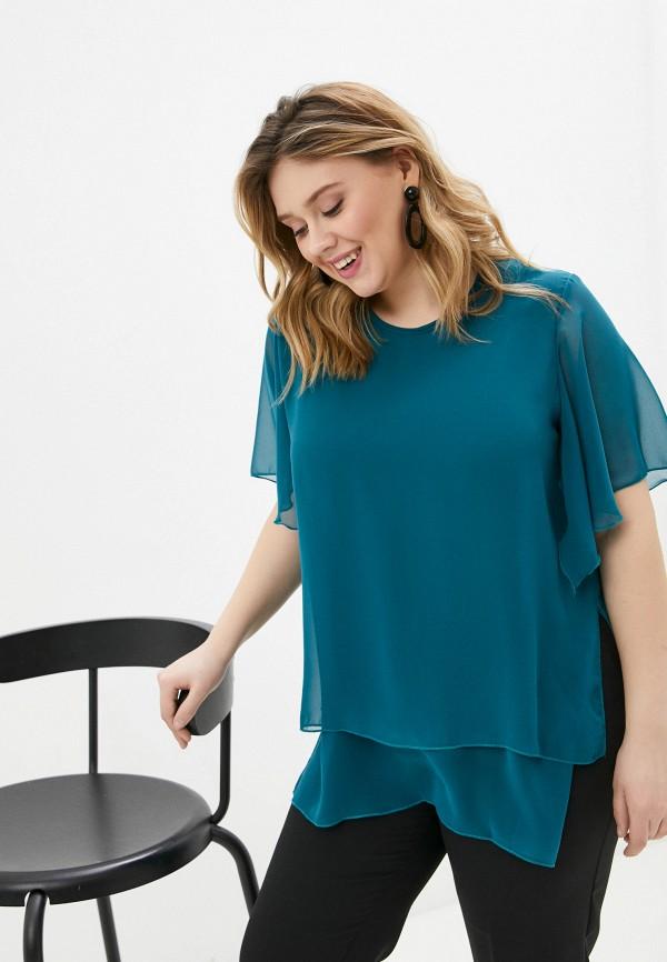 женская блузка с коротким рукавом olsi, зеленая