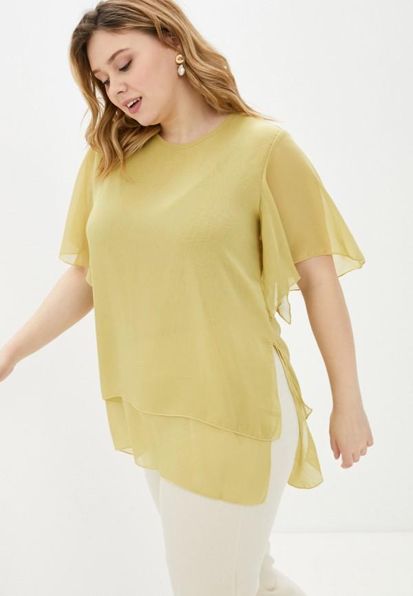 женская блузка с коротким рукавом olsi, золотая