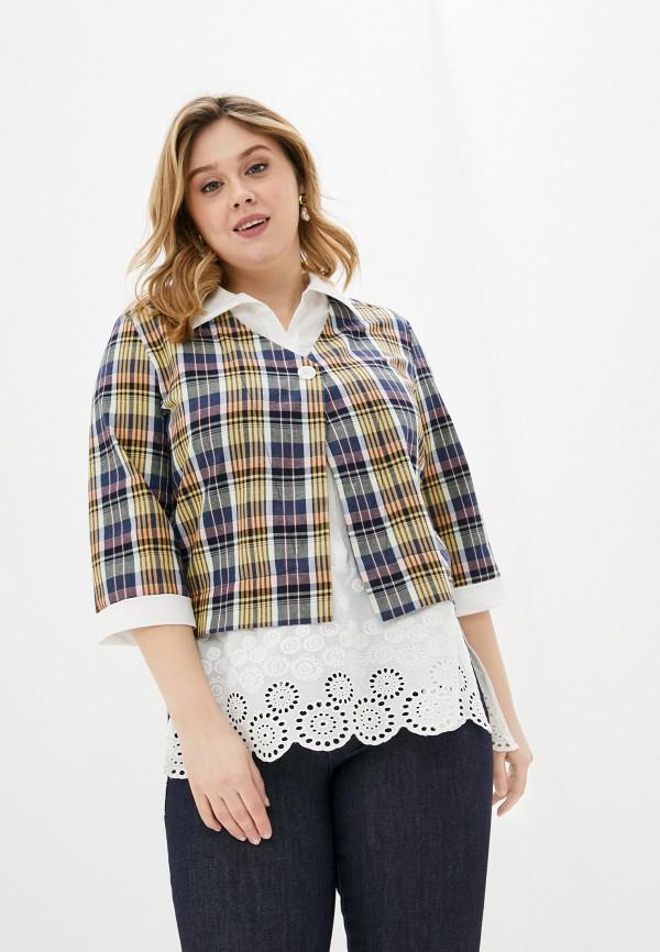 женская блузка с коротким рукавом olsi, разноцветная
