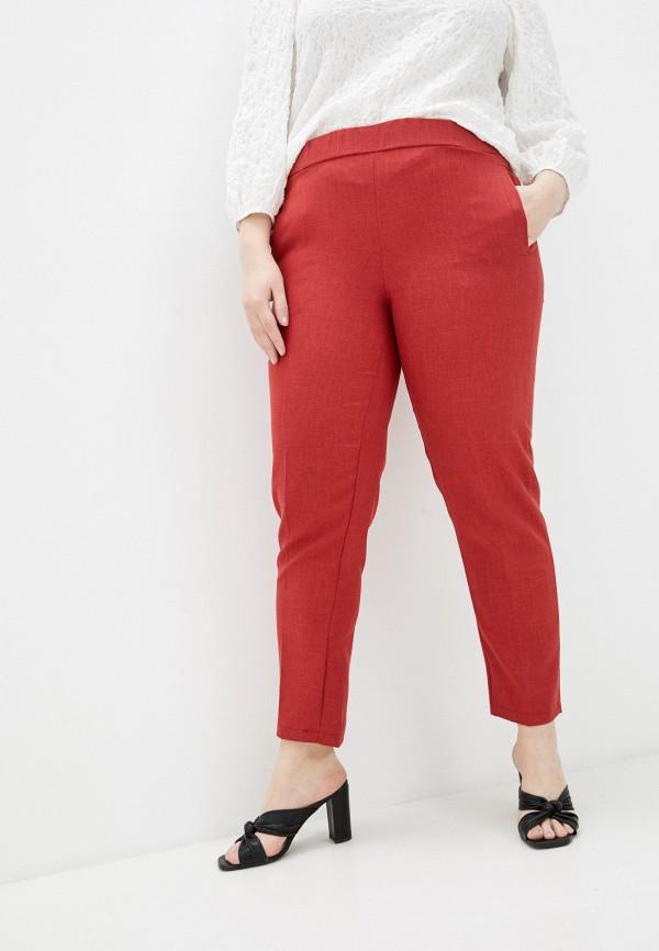 женские брюки джоггеры olsi, красные