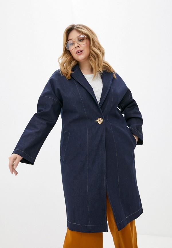 женское пальто olsi, синее