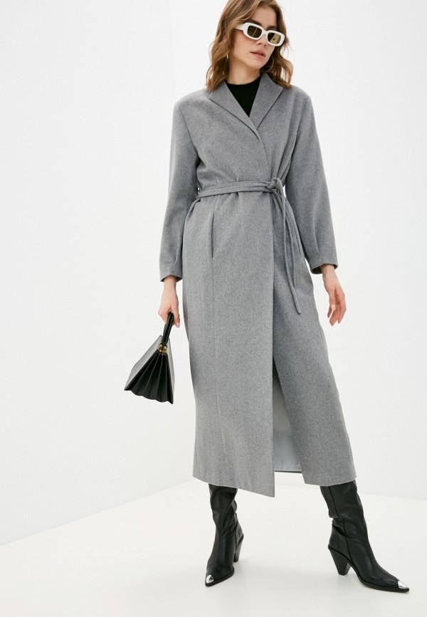 женское пальто zlatoni, серое