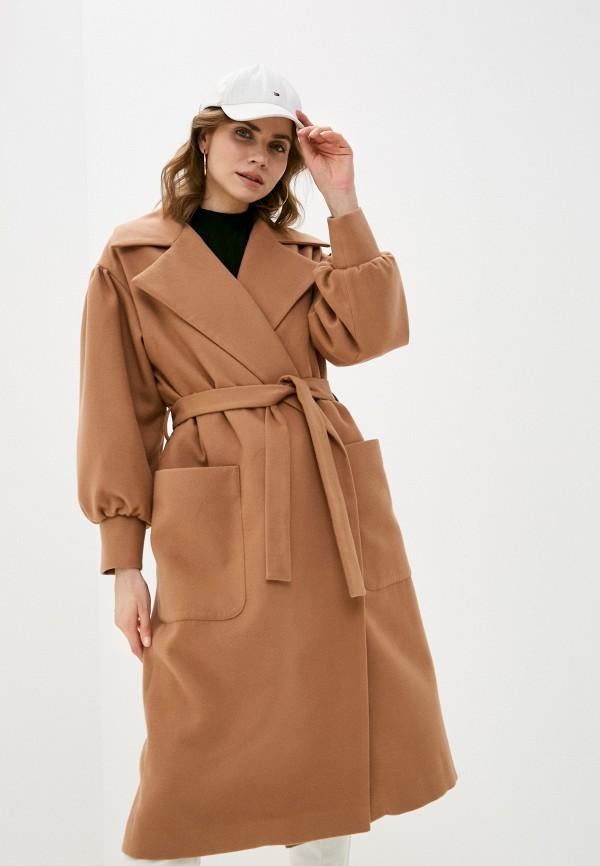 женское пальто zlatoni, бежевое
