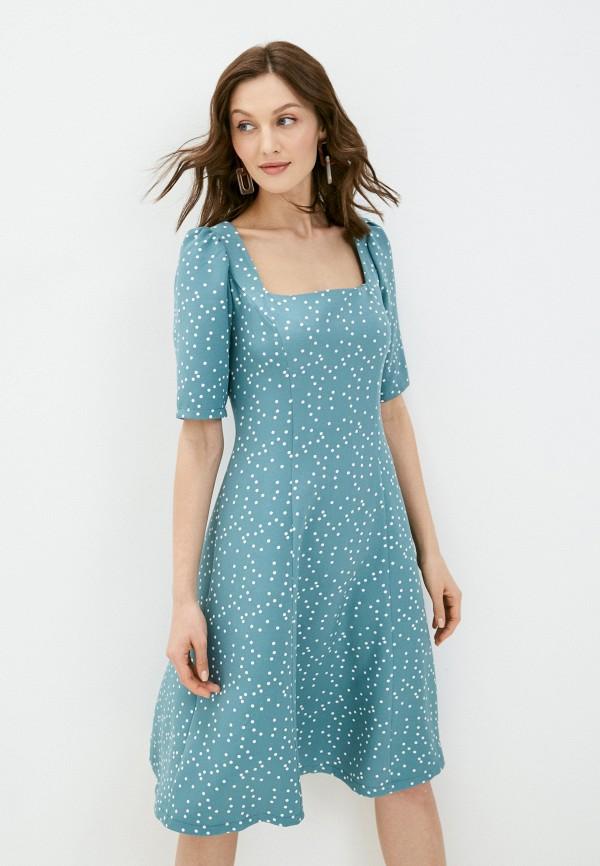 женское повседневные платье vittoria vicci, бирюзовое