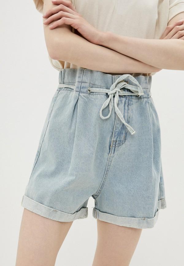 женские джинсовые шорты befree, голубые