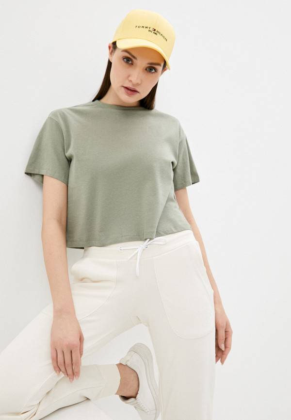женская футболка befree, хаки