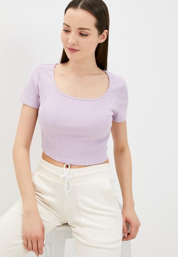 женская футболка befree, фиолетовая