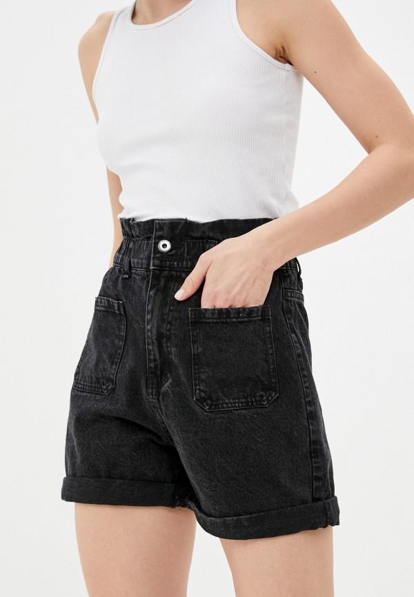 женские джинсовые шорты befree, черные