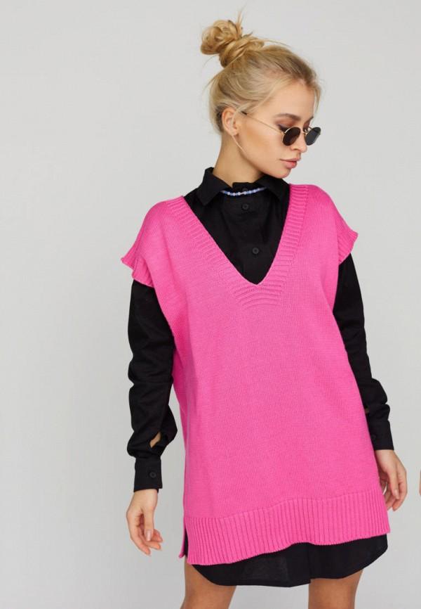 женский жилет karree, розовый
