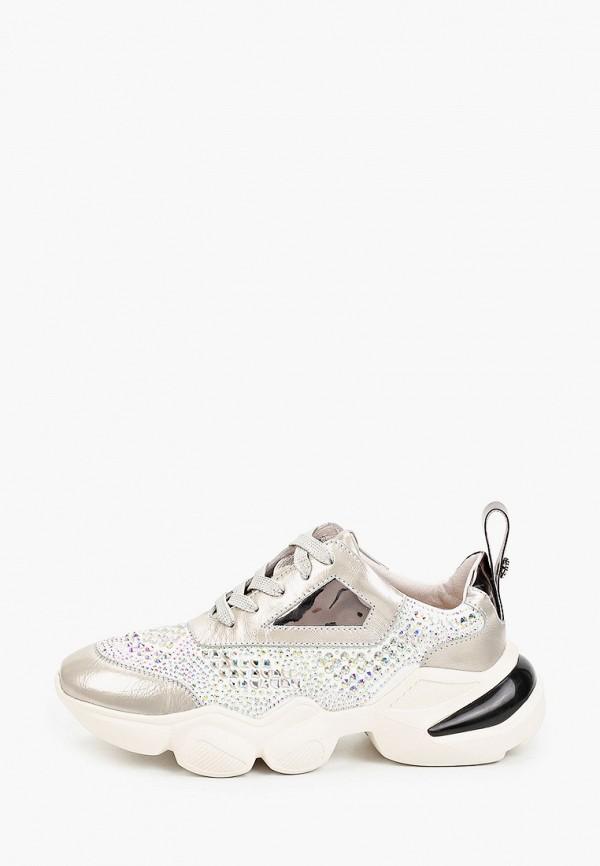 женские низкие кроссовки tuffoni, серебряные