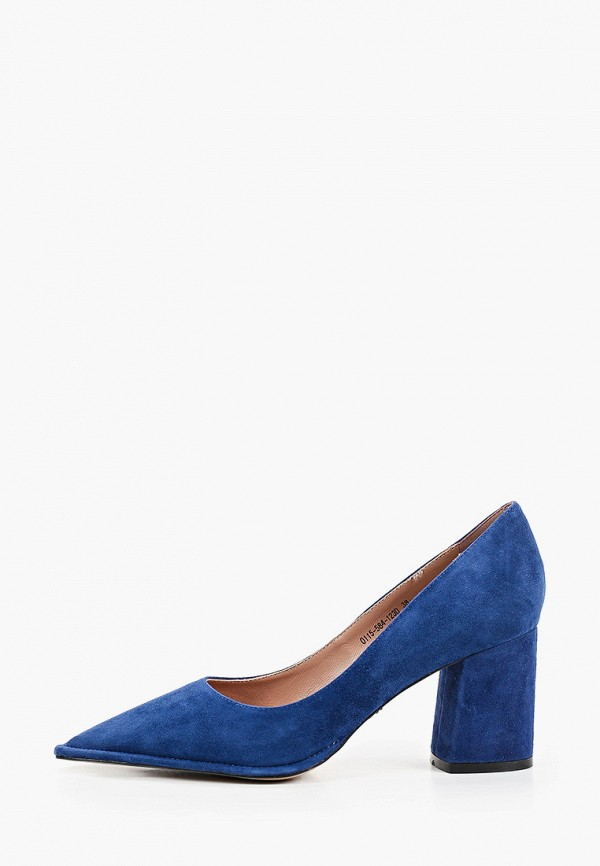 женские туфли с закрытым носом aidini, синие