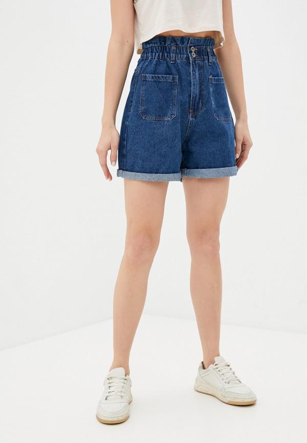 женские джинсовые шорты befree, синие