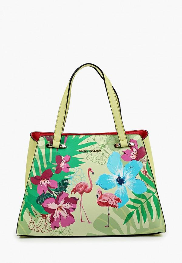 женская сумка с ручками fiato, зеленая