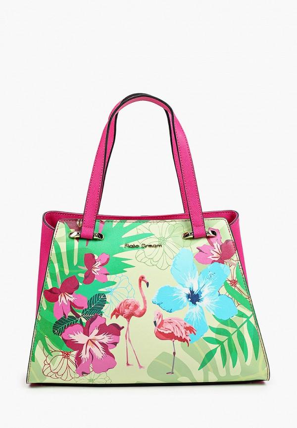 женская сумка с ручками fiato, разноцветная