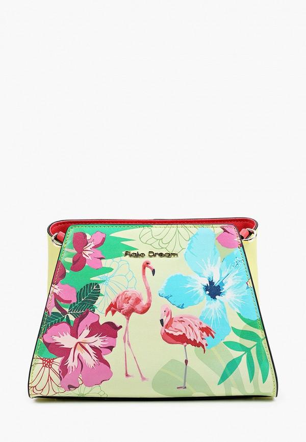 женская сумка через плечо fiato, зеленая