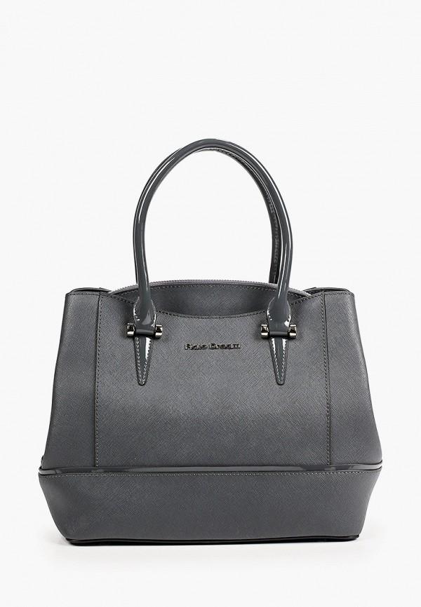 женская сумка с ручками fiato, серая